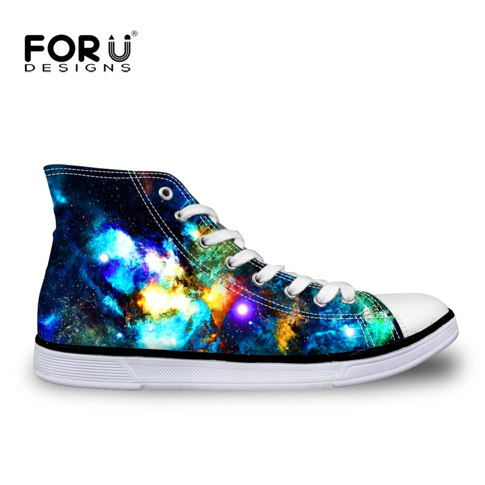 High-top Men Shoes Galaxy Space Star Pattern Fashion Canvas Shoes Man Teen Boys Male Zapatos Breathable Men's Flats Casual Shoes gran epos 2017 new mens casual shoes man flats breathable fashion low high top shoes men hip hop dance shoes for male zapato