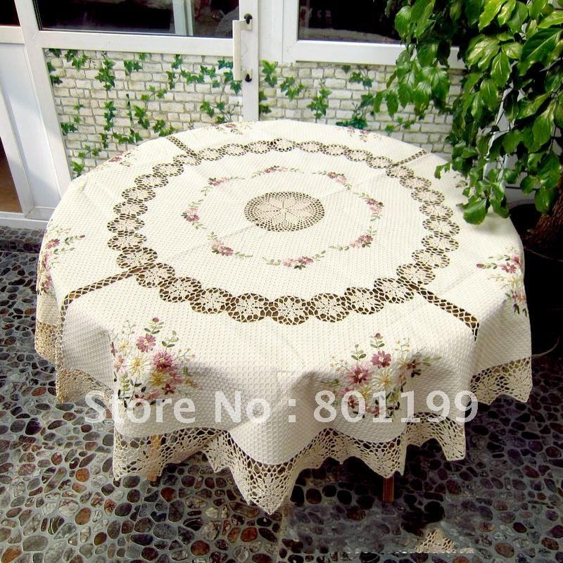 achetez en gros crochet nappe ronde en ligne des grossistes crochet nappe ronde chinois. Black Bedroom Furniture Sets. Home Design Ideas
