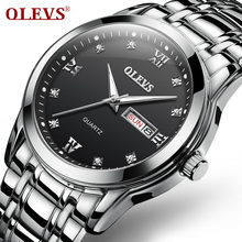 OLEVS Luxury Brand Business Quartz Waterproof Watch Men Stainless Steel Wristwatch Mens Clock Relogio Masculino 8691 цена