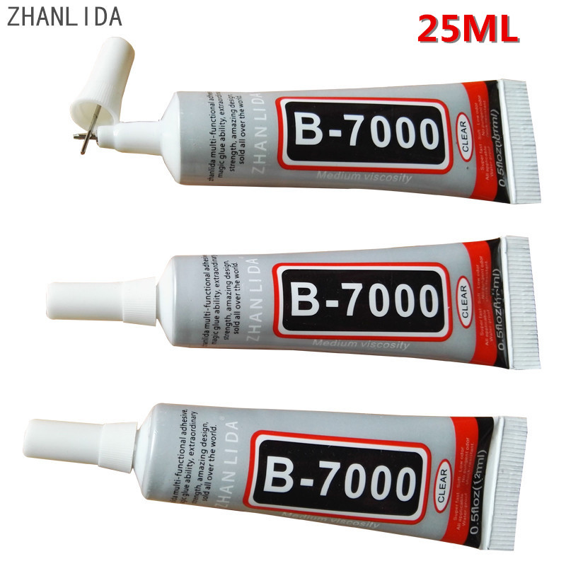 ZHANLIDA 20PC 25ml Industrial Strength Adhesive Clear Liquid B-7000 Glue Diy Phone Case Crafts Pearls Jewelry Rhinestones