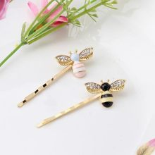 Cute Girls Crystal Wings Bees Hair Jewelry Animal Styles Hairpins Hair Clips for Women's Hair Accessories Barrettes A354(China)
