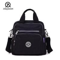 JINQIAOER Light Travel Handbag Women Waterproof Nylon Double Shoulder Bags Casual Quality Messenger Crossbody Bag Lady