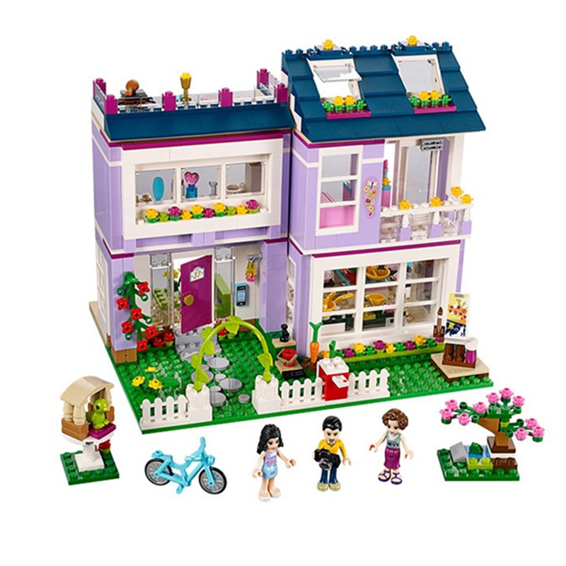 2017 10541 Friends Emma's House building Blocks Bricks Toys Girl Game Toys for children Gift Compatible with Decool Lepin 41095 lepin 02012 city deepwater exploration vessel 60095 building blocks policeman toys children compatible with lego gift kid sets