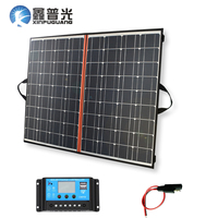 Xinpuguang Flexible Solar Panel 140W 70W*2 18V 150W Foldable home Charger Mono Solar Cell with 12V/24V 10A Controller Solar Bag