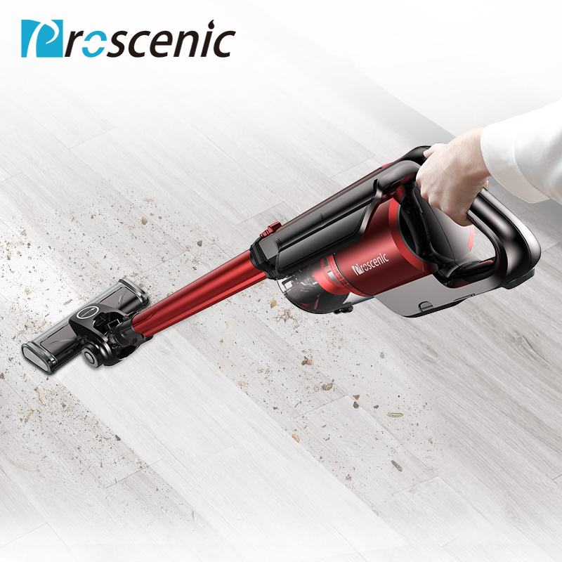 Proscenic I7 Беспроводной пылесос 2 в 1 трость для питомца беспроводной пылесос с светодиодный двигателя щетки, настенное крепление и HEPA фильтр