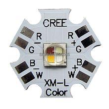 Cree XLamp XM-L XML RGBW RGB Белый или RGB Теплый Белый цвет 12 Вт Высокая Мощность СВЕТОДИОДНЫЙ Излучатель 4-чип 20 мм Звезда ПЕЧАТНОЙ Платы