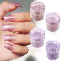 DIY Superfine Glitter Powder Shimmering Nail Art Decorations Pink-Purple Series
