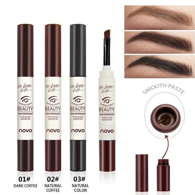 NOVO Henna Tattoo Eyebrow Gel Waterproof Makeup Tint Natural Eye ...