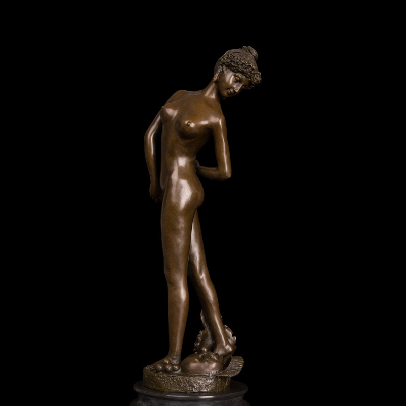 ATLIE BRONZES  hot sales Erotic statue figurine nude  woman  antiques auction house  bronze lady sculpture hockey sock