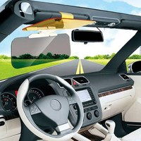 2 In 1 Car Anti Glare Anti UV Rays Sunshade Mirror Day Night Vision Mirror Safe