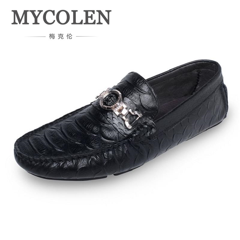 MYCOLEN 2018 Men Casual Shoes Leather Fashion Driving Shoes Male Loafers Moccasins Italian Shoes For Men Flats Sepatu Pria mycolen 2018 brand new spring autumn men breathable loafers black shoes lightweight fashion casual men shoes sepatu pria