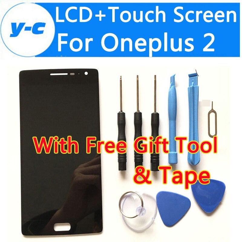 imágenes para Para oneplus 2 pantalla lcd + pantalla táctil nuevo original digitalizador asamblea de cristal del panel de pantalla para uno más 2 oneplus two 5.5