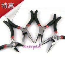 Jewelry Making Pliers DIY Beading Tools Set (Diagonal/With Tooth Flat/No Tooth Flat/Roll Pliers Tool)