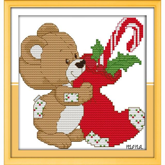 Online Shop Little Bear Christmas Stocking Cartoon For Kids Room Top