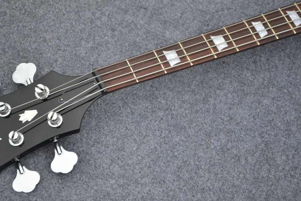 Классическая черная бас-гитара, отличное качество звука, Поддержка настройки, бесплатная доставка.