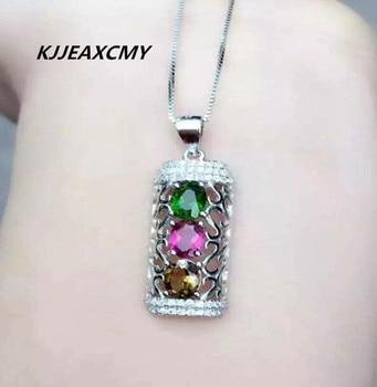 KJJEAXCMY Boutique jewelry 925 sterling silver, natural tourmaline, pendants, jewelry, women's jewelry