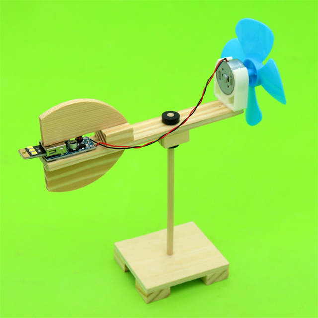 Us 8 39 30 Off Happyxuan Diy Wind Turbine Model Kits Kid Science Experiments Projects Creative Montessori Primary School Education Stem Toys On