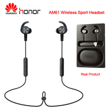 Huawei Honor AM61 Bluetooth 4.1 Wireless Headset with Microphone Wired Controller Magnet Design Bluetooth Earphone for Outdoor