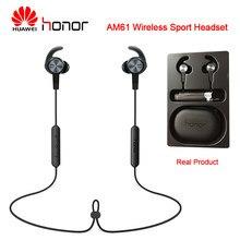 Huawei honor am61 bluetooth 4.1 fone de ouvido sem fio com microfone com fio controlador ímã design bluetooth fone para ao ar livre