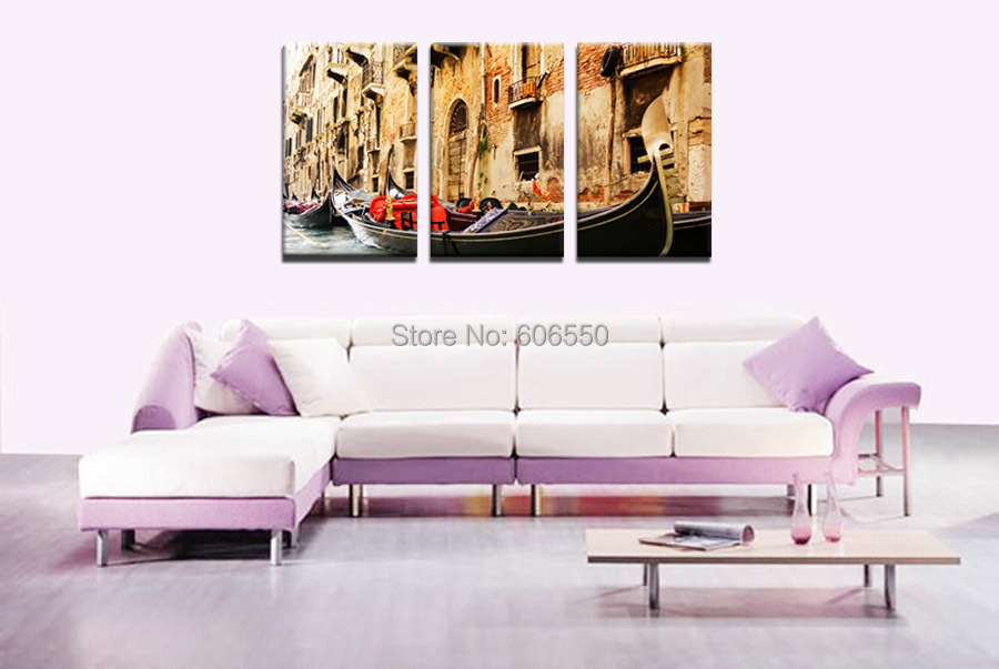 Whole Stretched Multi Canvas Prints Wall Art Group Three Pieces For Decor In Painting Calligraphy From Home Garden On