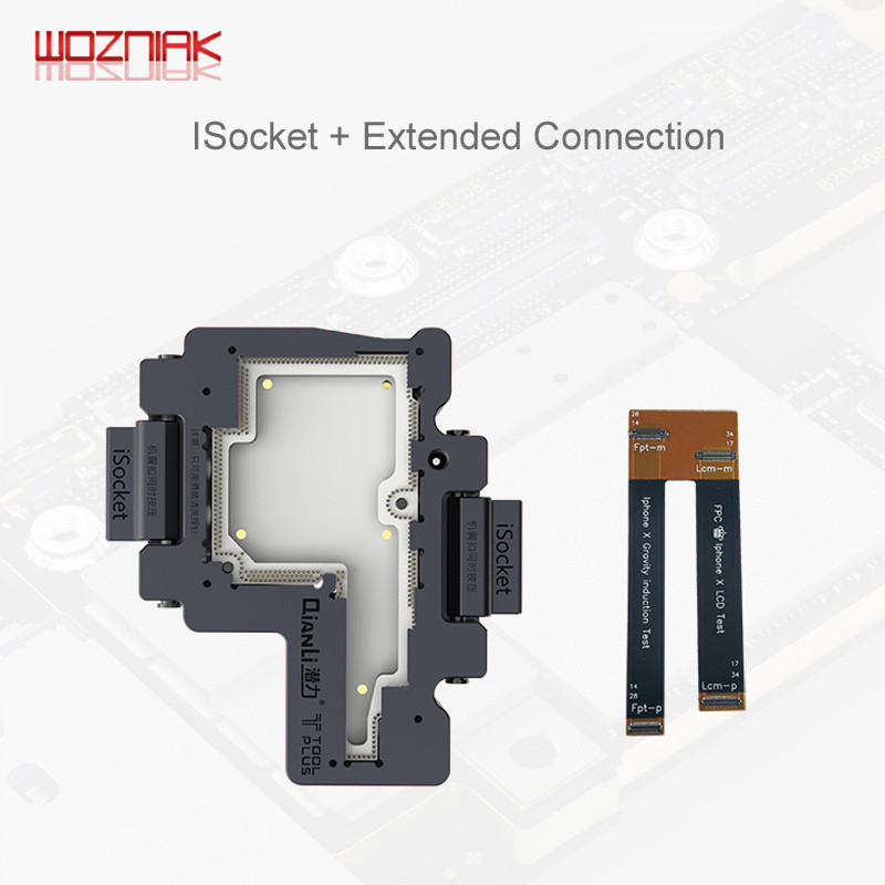 Image 5 - WOZNIAK QIANLI iSocket for iPhone x xs / xs max motherboard test fixture For IPHONEX double deck motherboard Function Tester-in Power Tool Sets from Tools