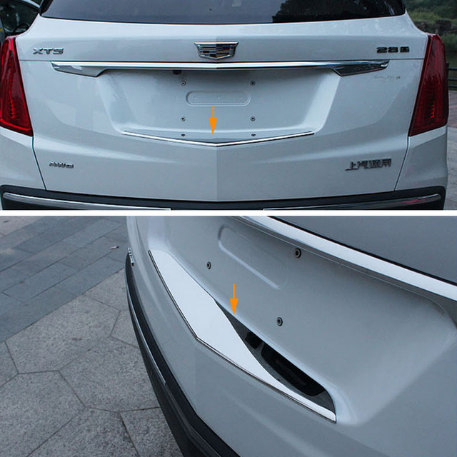 Rear Bumper Door Sill Plate Scuff For Cadillac XT5 2016 2017 Stainless Steel : cadillac door sills - pezcame.com