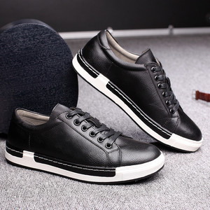 Image 2 - Gentlemans Luxury Leather Shoes Men Sneakers Men Trainers Lace Up Flat Driving Shoes Zapatillas Hombre Casual