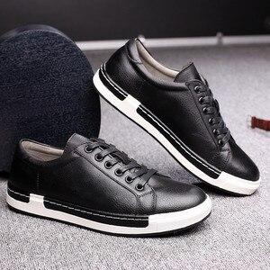 Image 2 - Кроссовки Gentlemans мужские кожаные, роскошные кеды на шнуровке, плоская подошва, повседневная обувь для вождения