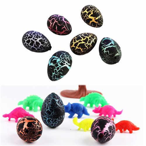 小説水孵化インフレ恐竜卵水彩亀裂成長卵教育玩具 1 個