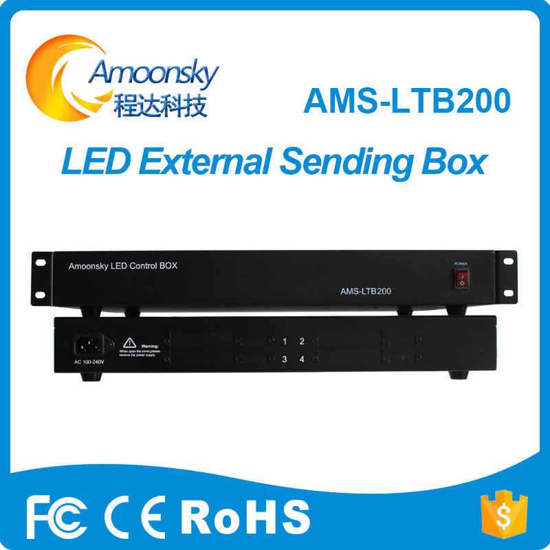 large led color display led sending card box sc-4 led external sending card power box insert 4pcs sending card MSD300 IT7 a30 hd a30 full color led dpanel controller large display sending card and sensor box support ir temperature humidity brightness