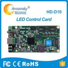 Huidu HD-D10 full color cartão de controle assíncrona led profissional para tela de led ao ar livre p4/p8/p10
