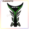 Для KAWASAKI ZX6R ZX 6R мотоцикла углеродного волокна Стикеры s топливного бака Стикеры Fishbone распределяя защитные наклейки Moto - фото