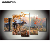 3d Needlework Diamond Painting Beautiful Landscape Animal Deer Diamond Embroidery All Drill Rhinestone Mosaic Pictures AT1733