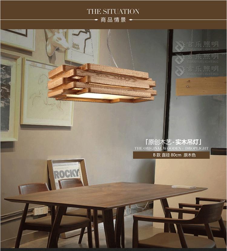 moderno e minimalista lampadario in legno legno soggiorno