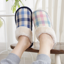 Warm cotton slippers men and women lovers indoor floor slip waterproof winter new home cotton drag thick