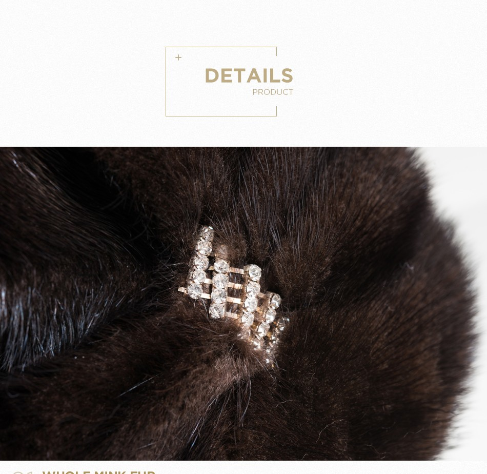 mink fur winter hats for women PCM028 (7)