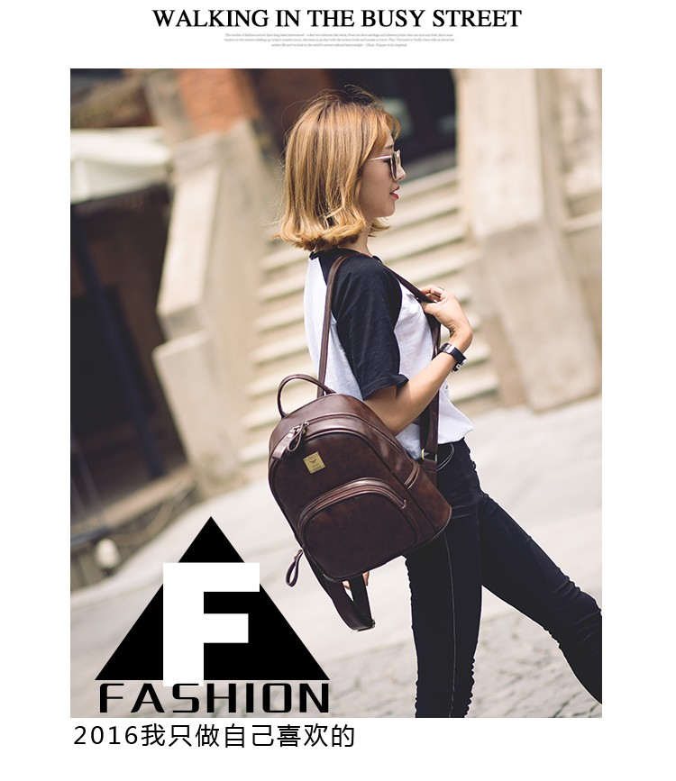 2016 Fashion Vintage Black PU Leather Backpacks For Women Preppy Bookbag New Cheap Designer Backpack Brand Couro Mochilas Mujer (10)