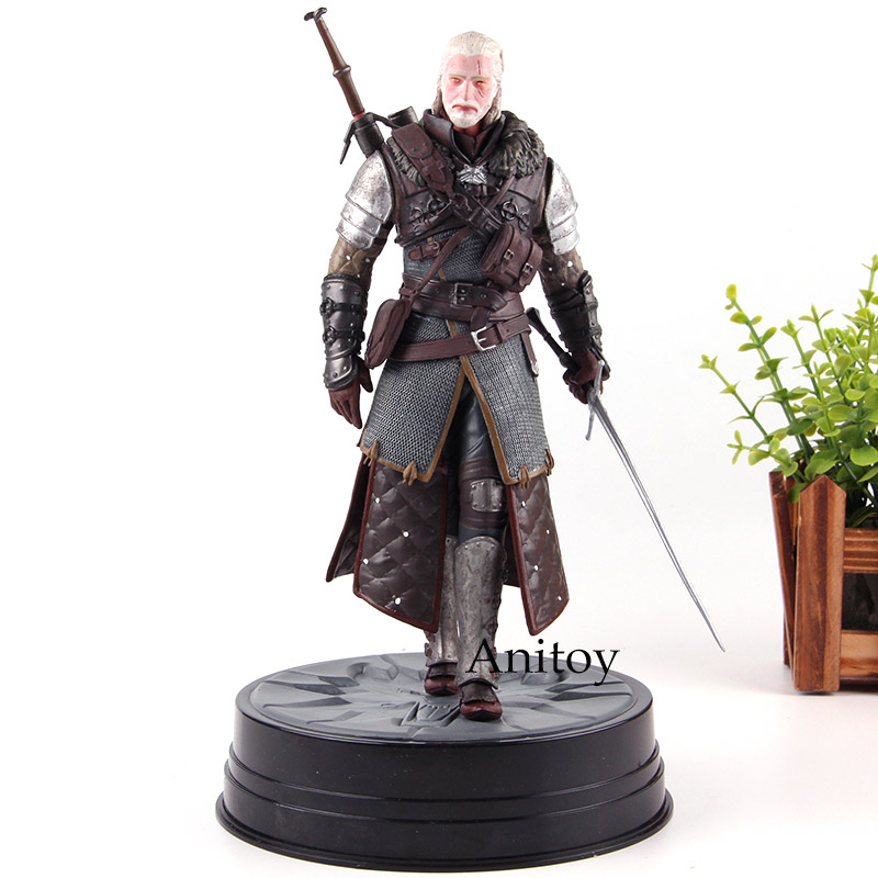 US $17 7 18% OFF|Anime Figure The Witcher 3 Wild Hunt Geralt of Rivia  Figure PVC Dark Horse Deluxe Statue CD Projekt Red Collection Model Toy-in