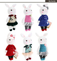 New high quality metoo mini tiramitu rabbit pendant plush toy rabbit doll for birthday Christmas gift 1pcs