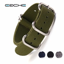 EACHE High Quality Nylon Zulu Watch Band straps With Stainless Steel Black Silver Buckles 20mm 22mm