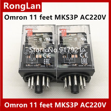 [ZOB] Supply of new original electromagnetic relay omron Omron 11 feet MKS3P AC220V --10PCS/LOT цена 2017