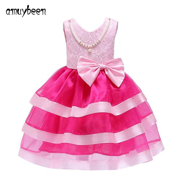9c89bc7d5 Summer New Kids Dress for Girls Party Wear Ball Gown Princess ...