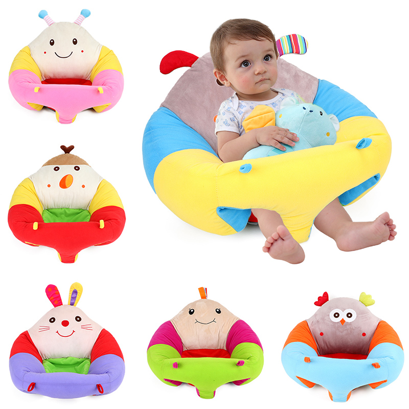 Baby Sitting Seat Portable Cartoon Animal Plush Comfortable Protevtive Safety Infant Cushion Sofa Support Sit Rabbit Chair