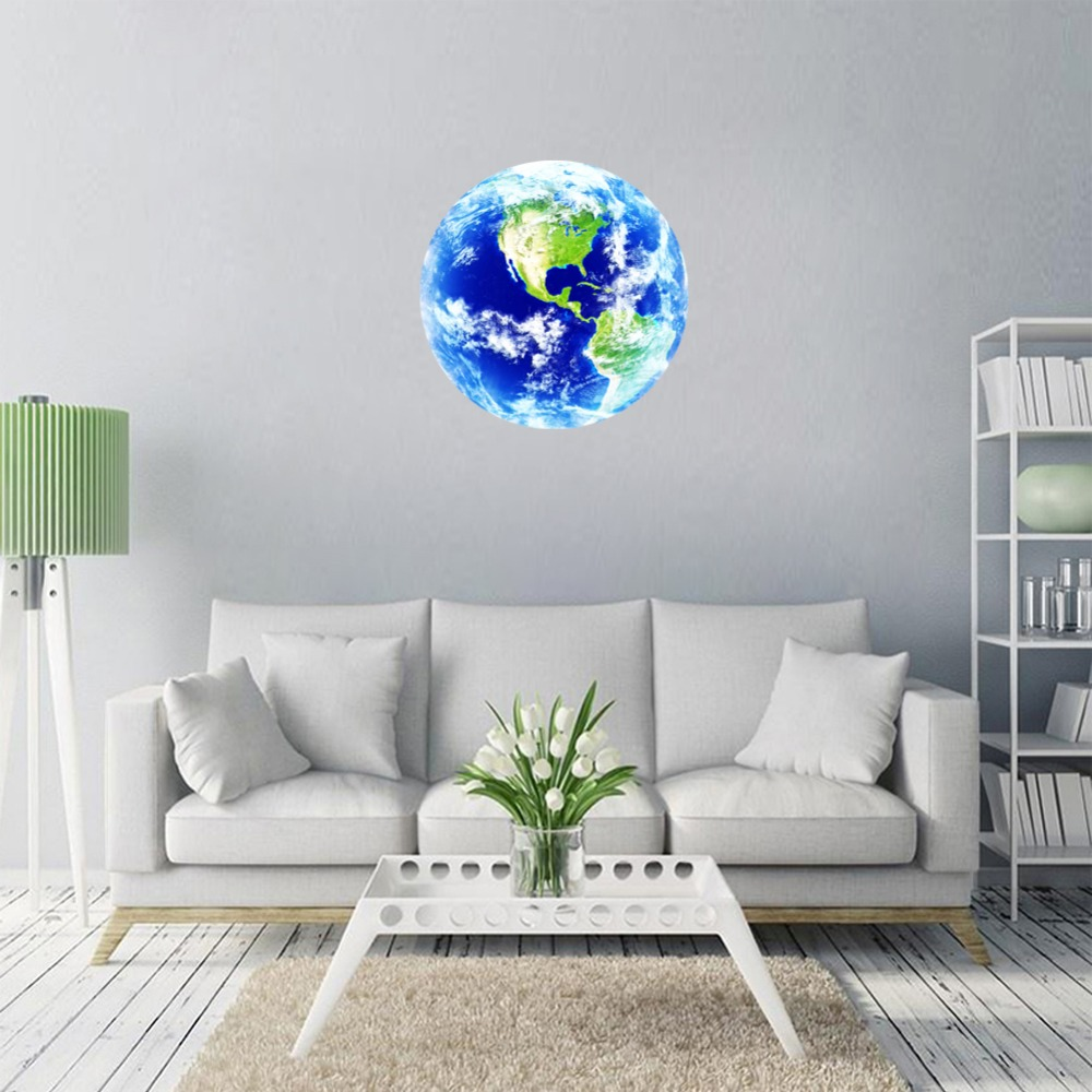 New 1pcs luminous blue earth cartoon diy 3d wall stickers for kids new 1pcs luminous blue earth cartoon diy 3d wall stickers for kids rooms bedroom wall sticker home decor living room hot sale in wall stickers from home amipublicfo Image collections
