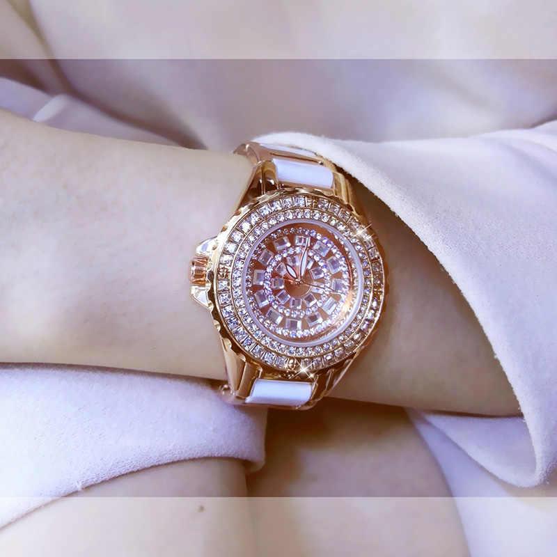النساء الساعات الفاخرة 2017 الماس الشهيرة ماركة أنيقة اللباس الساعات السيدات ساعة اليد relogios femininos سات zdj