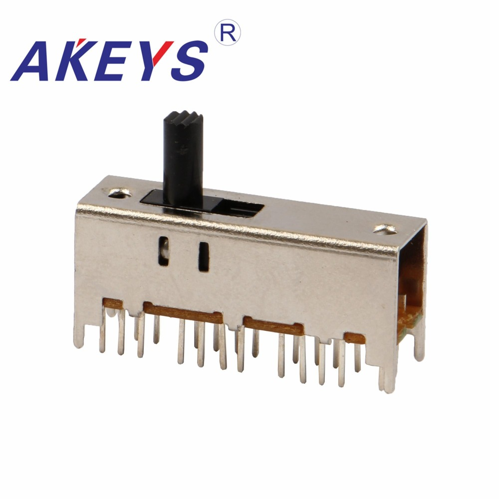 Switches Expressive Ss-63d01 6p3t Six Pole Three Throw 3 Position Slide Switch 24 Pin Dip Type With 4 Fixed Pin Handle Heights Can Be Customized Limpid In Sight