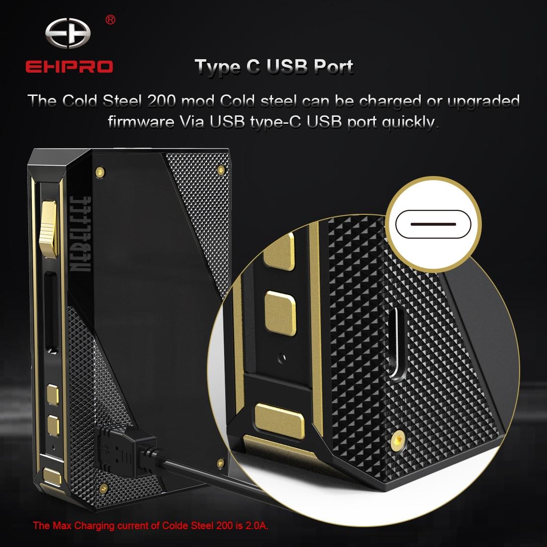Подарок Vape мод Ehpro холодная сталь 200 TC мод 200 Вт электронная сигарета мод без батареи подходит 510 vape Танк vs dovpo topside/drag mini - 4