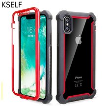 KSELF+Free Tempered Glass Case For iPhone 7 8 6 6S Plus X XS XR 360 Degree Full Protective TPU Shockproo for MAX Cover