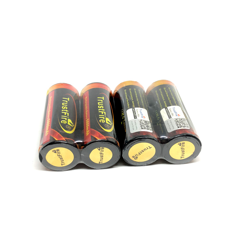 8pcs lot TrustFire Colorful 3 7V 5000mAh 26650 Rechargeable Protected Lithium Battery Batteries with PCB For