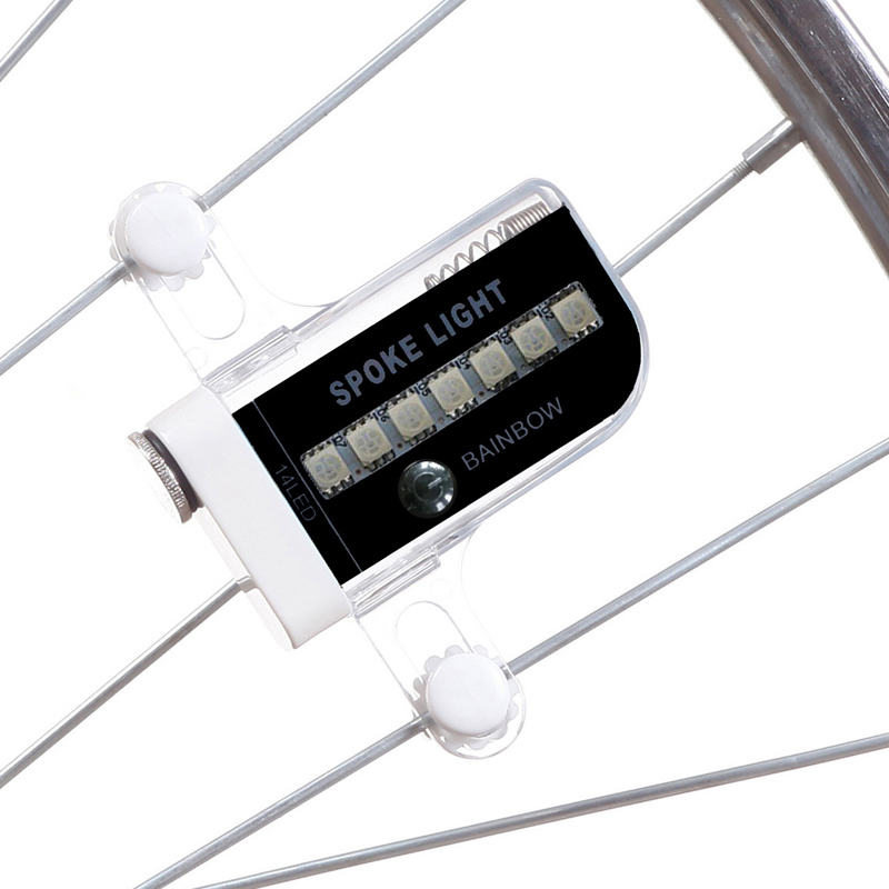 2017 Hot Sale Colorful14 LED Motorcycle Cycling Bicycle Bike Wheel Signal Tire Spoke Light 30 Changes Cycling Accessories